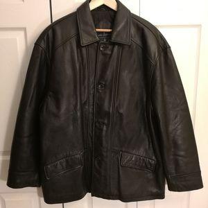 JOHN ASHFORD Leather coat